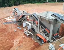 "Constmach mobile crushing plant MOBILE ""JAW + CONE + VSI"" CRUSHER, 60 tph CAPACITY"
