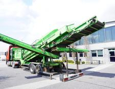 vibrating screen Neunhauser Superscreener 2.1.2.120, mobile screen, 3 lines, 1.2m