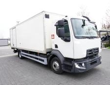 Renault box truck D12 , E6 , 4x2 , Box 18 EPAL side door , tail lift Dhollandia ,