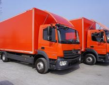 Mercedes-Benz box truck Atego 1224, E6, 4x2, 7.10 m container, retarder, 3-person cabin,