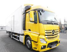 Mercedes-Benz refrigerated truck Actros 2542 , E6 , 6x2 , 22 EPAL , Side door , lift axle , Carri