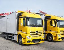 Mercedes-Benz refrigerated truck Actros 2542 , E6 , 6x2 , 22 EPAL, Side door , lift axle , Carri