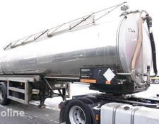 chemical tank trailer BALE VTS 28.000l , steinless steel , lift axle