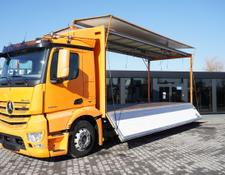 Mercedes-Benz box truck Antos 2540 , E6 , 6x2 , 17 EPAL , 2x side opening , tail lift ,