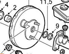 brake disk Servofreno Saab 9-3 Berlina (2003->) 2002 for Saab 9-3 Berlina (2003->) 2002 automobile